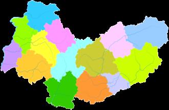 Xinzhou - Image: Administrative Division Xinzhou