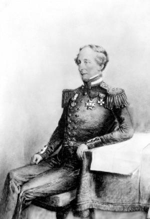 Robert Lambert Baynes - Rear Admiral Robert Lambert Baynes, 1850s, unknown artist