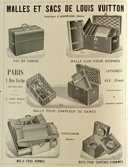 Ad for Louis Vuitton luggage, 1898 Advertisement for Louis Vuitton July 1898.jpg