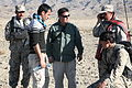 Afghan Border Police (ABP) officers practice radio procedures during instruction at Combat Outpost Lakaray in Laghman province, Afghanistan, March 1, 2012 120229-A-EW551-031.jpg
