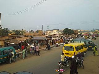 Aflao Town in Volta Region, Ghana