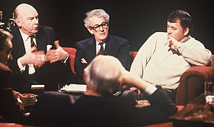 "Tam Dalyell - Appearing (centre) on After Dark ""Arms and the Gulf"" in 1991"
