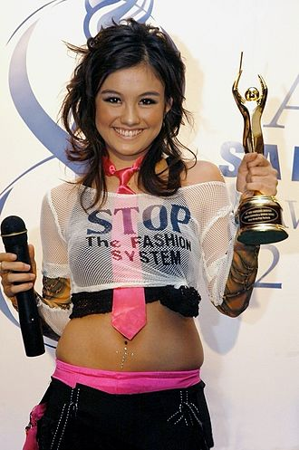 Agnez Mo - Agnes Monica received her first Anugerah Musik Indonesia (Indonesian Music Award) in 2004.