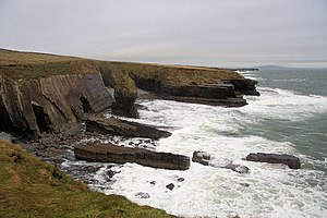 Kilballyowen - Aillnagreagh, a rocky inlet on the south side of Loop Head