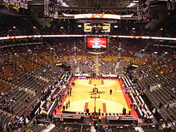 Prior to the commencement of a Raptors game