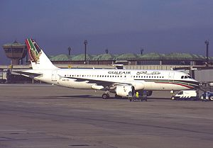 Gulf Air Flight 072 - A Gulf Air A320 similar to the aircraft involved in the crash