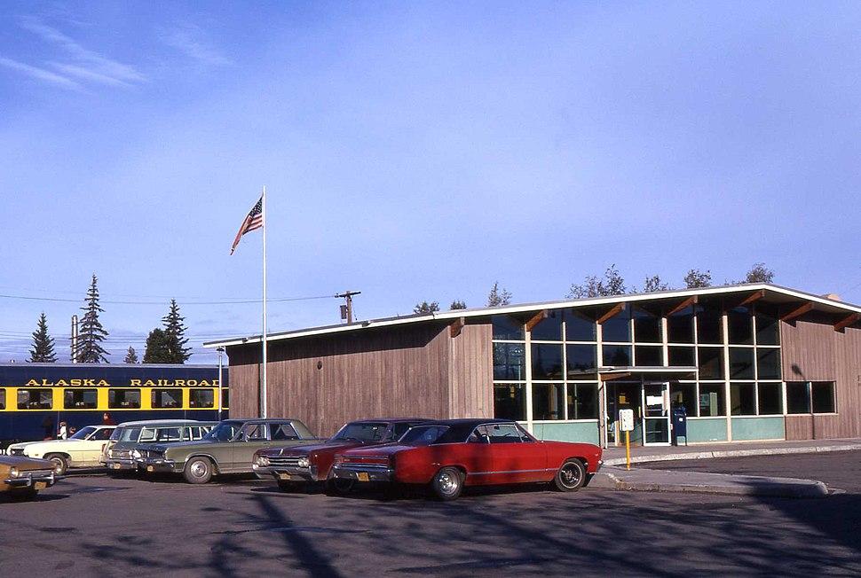 Alaska Fairbanks train station 1972 01