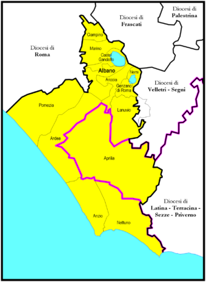 Roman Catholic Suburbicarian Diocese of Albano - Image: Albano diocesi