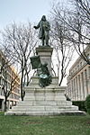 The statue of Albert Pike