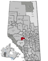 Alberta municipal districts Brazeau highlighted.png