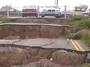 Holderness - Aldbrough, Holderness. Coastal erosion.