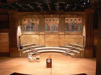 Jacob Adolphus Holzer - Homeric Story mosaic at Alexander Hall, Princeton University, 1894