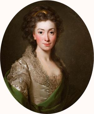 Izabela Czartoryska - Portrait by Alexander Roslin