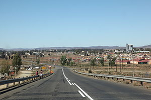 Aliwal North - Entering Aliwal North from the west on the R58