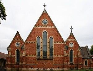 All Saints Anglican Church, Petersham - End view of the church
