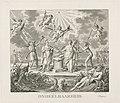 Allegorie op de ondeelbaarheid van de Bataafse Republiek Ondeelbaarheid (titel op object) Bataafse Omwenteling, 1795 (serietitel), RP-P-OB-73.839.jpg