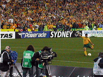 John Aloisi - Aloisi taking the penalty that secured the victory over Uruguay and Australia's place in the 2006 World Cup.
