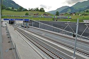Lötschberg Base Tunnel - The north portal in Frutigen