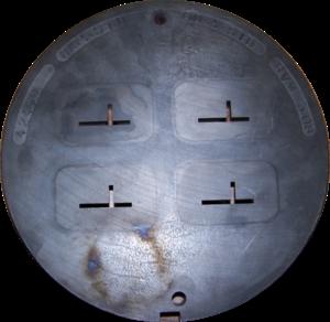 Bismuth bronze - Image: Aluminium extrusion die back
