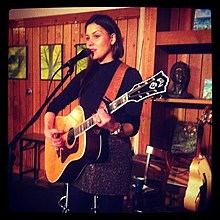 Aly Tadros performing at the New Leaf Cafe on March 8, 2013