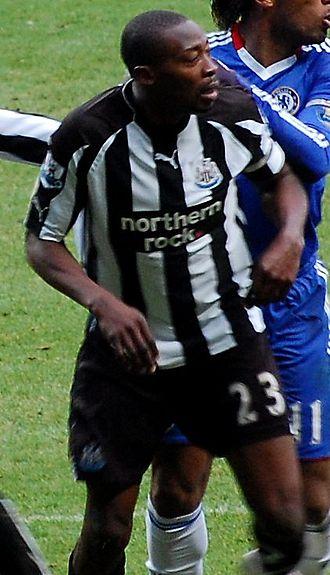 Shola Ameobi - Ameobi playing against Chelsea in November 2010.