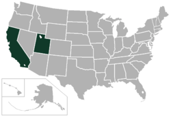 American West Conference locations