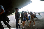 American medical students board a C-141B Starlifter aircraft for their evacuation from the island during Operation Urgent Fury DF-ST-85-00362.jpg