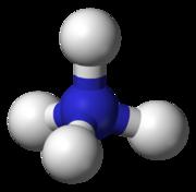 The ammonium ion is tetrahedral