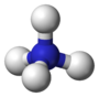 Ball-andstick model of the ammonium cation