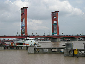 Ampera Bridge - Image: Ampera Bridge, Palembang