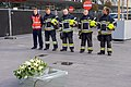 An Honor Guard of First Responders Stands by as Secretary Kerry Visits Terminal Attacked by Terrorists on March 22 at Brussels National Airport (25425927383).jpg