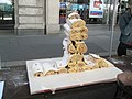 An edible tower at the mediaeval market in Cheapside - geograph.org.uk - 891814.jpg