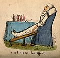 An invalid strapped into a special chair, next to him is a t Wellcome V0011154.jpg