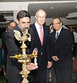 Anand Sharma lighting the lamp to inaugurate the 5th International Forum on Creativity and Inventions, organized by World Intellectual Property Organisation (WIPO), in New Delhi on November 11, 2009.jpg