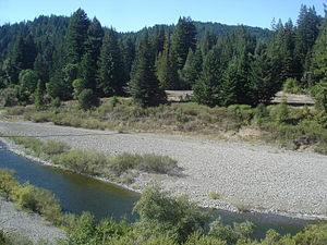Andersonia, California - Little remains of Andersonia at the confluence of Indian Creek and the South Fork Eel River.
