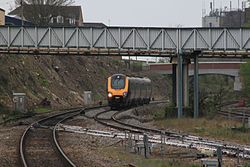 Andover - CrossCountry 220009 diverted from Bournemouth.JPG