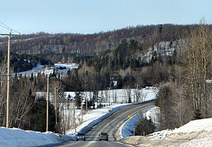L'Ange-Gardien, Outaouais, Quebec - Route 309 in the Du Lièvre River valley.