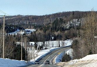 Quebec Route 309 - Route 309 through L'Ange-Gardien.