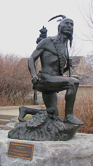 Major's Hill Park - Anishinaabe Scout by Hamilton MacCarthy