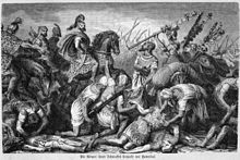 Hannibal Barca at the battle of Cannae
