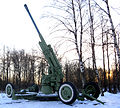 Antiaircraft gun (Izhorsky ram) Side-view Winter.jpg