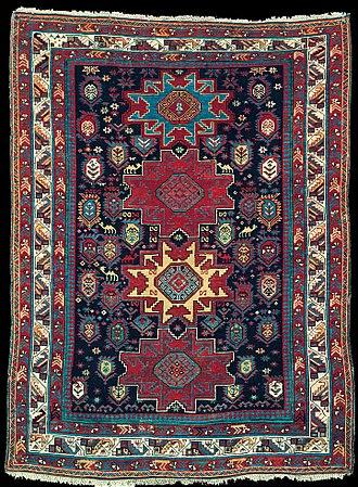Shamakhi - Antique Shirvan rug, Jamjamli village, Shamakhi-Maraza District, Azerbaijan. Late 19th century. State Museum of Azerbaijan Carpet and Applied Art