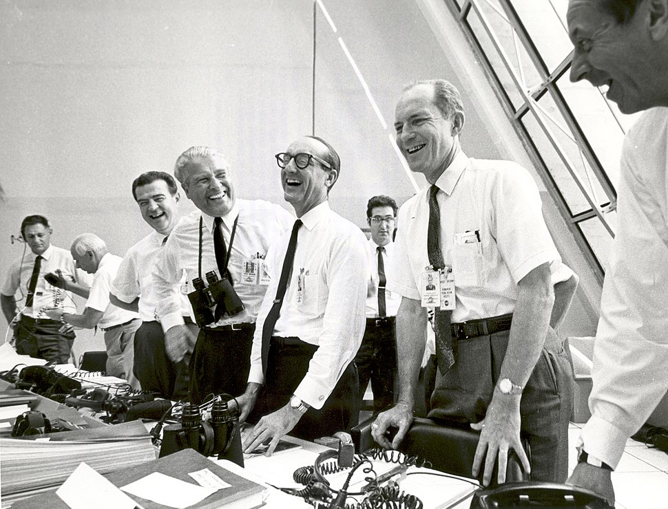 Apollo 11 mission officials relax after Apollo 11 liftoff - GPN-2002-000026
