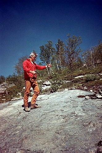 Apollo 17 - Gene Cernan participates in geology training in Sudbury, Ontario in May 1972