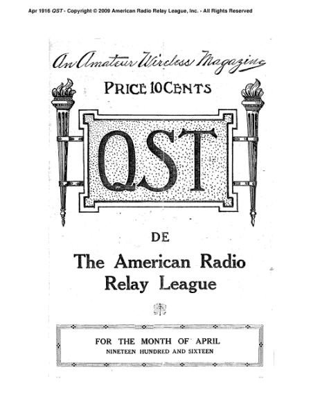File:April 1916 QST.djvu