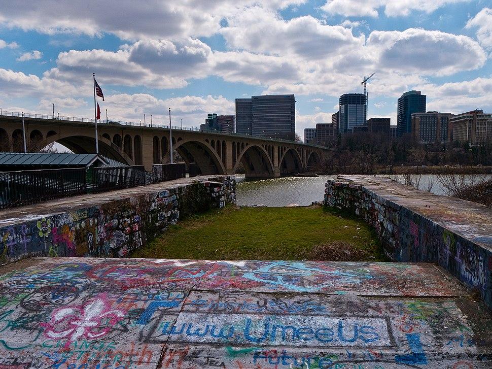 Aqueduct Bridge Abutment Wash DC