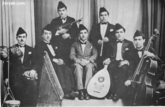 Music of Egypt - A typical Egyptian Arabic ensemble compromising the Oud, qanun, violin, ney and cello.