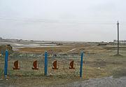 かつての港(カザフスタン、アラルの町にて)