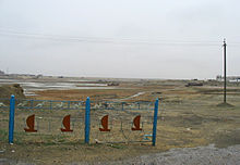 Quel che rimane del porto di Aralsk, una volta situata sulle rive del Lago d'Aral