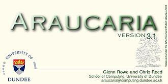 Araucaria (software) - Image: Araucaria software